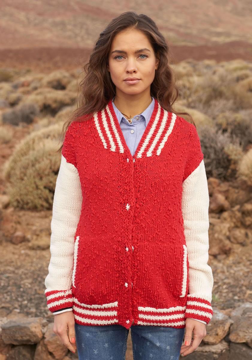 Lana Grossa GILET AVEC DES BORDURES RAYÉES ET DES POCHES Cotton Style/Only Cotton