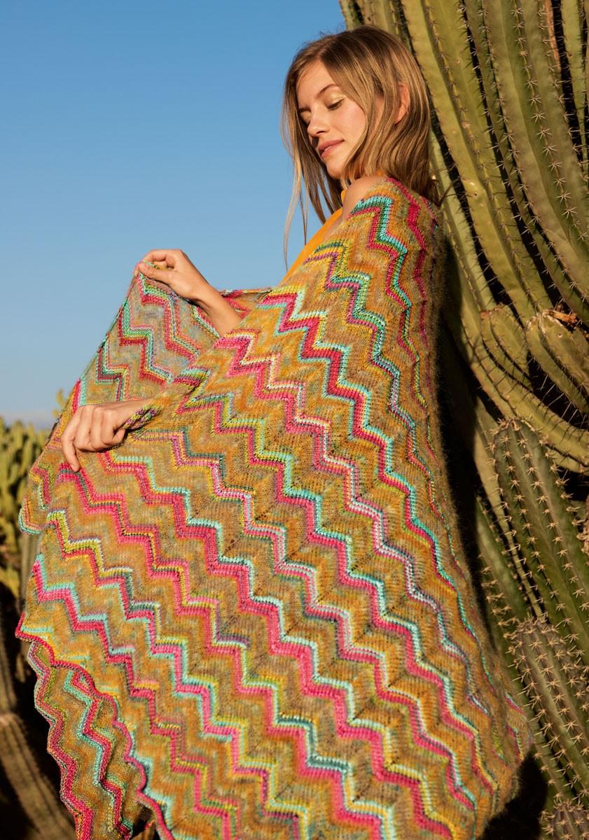 Lana Grossa CHÂLE EN MOTIF CHEVRON Allegro/Silkhair Design