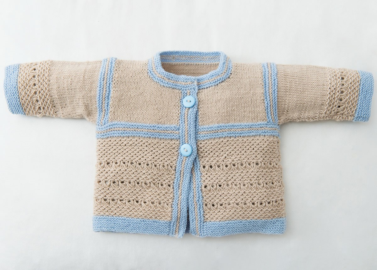 Lana Grossa CARDIGAN ET CHAUSSONS Cool Wool Baby