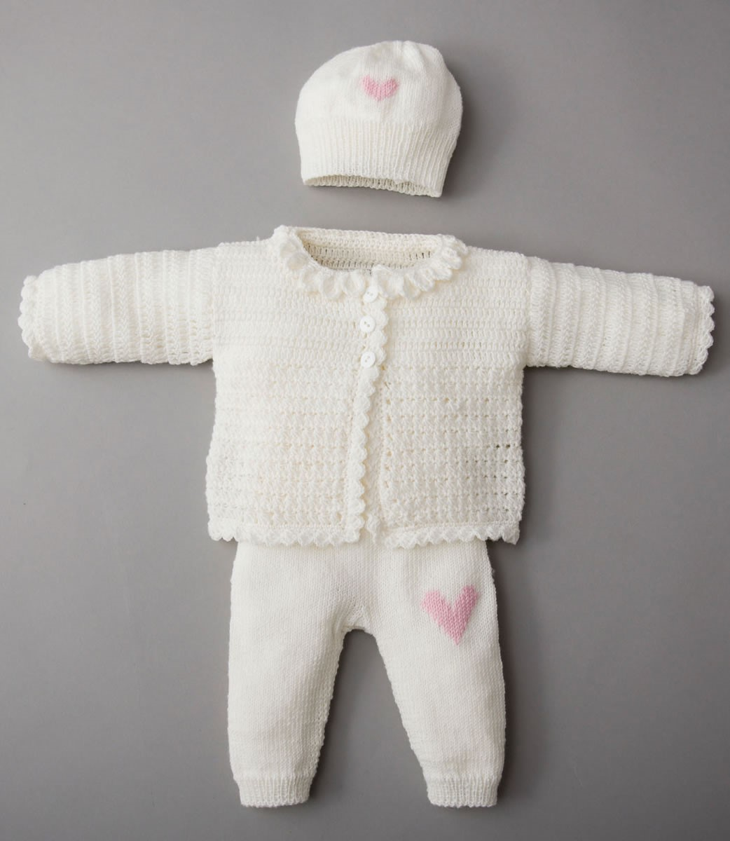 Lana Grossa CARDIGAN, PANTALON, BONNET ET CHAUSSONS Cool Wool Baby