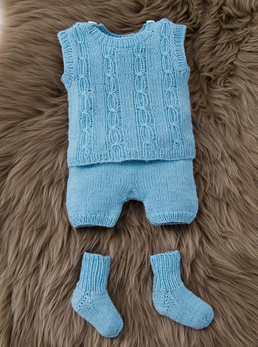 Lana Grossa CARDIGAN, DÉBARDEUR, PANTALON ET CHAUSSETTES Cool Wool Baby