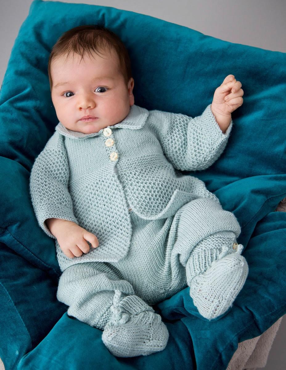 Lana Grossa CARDIGAN, PANTALON ET CHAUSSETTES Cool Wool Baby