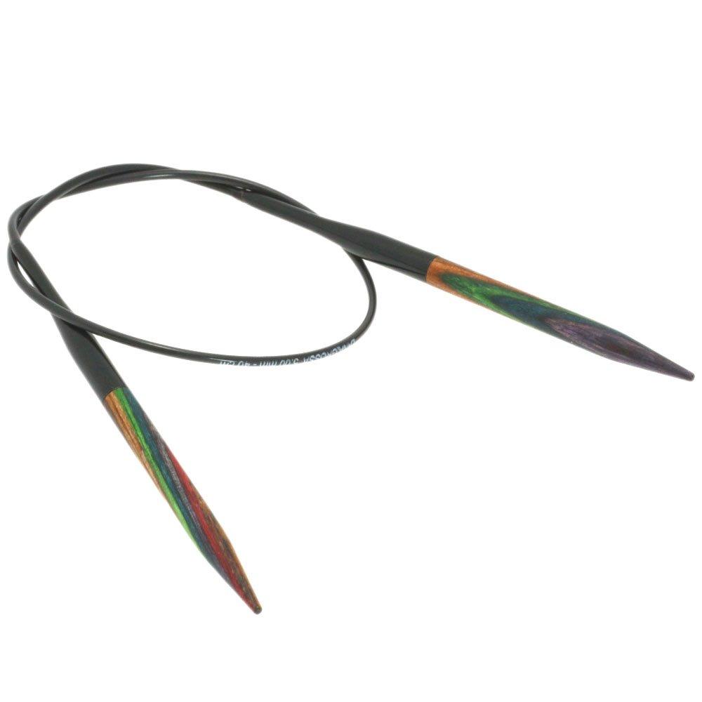 Lana Grossa Aiguille circulaire design en bois Color N° 5/40cm