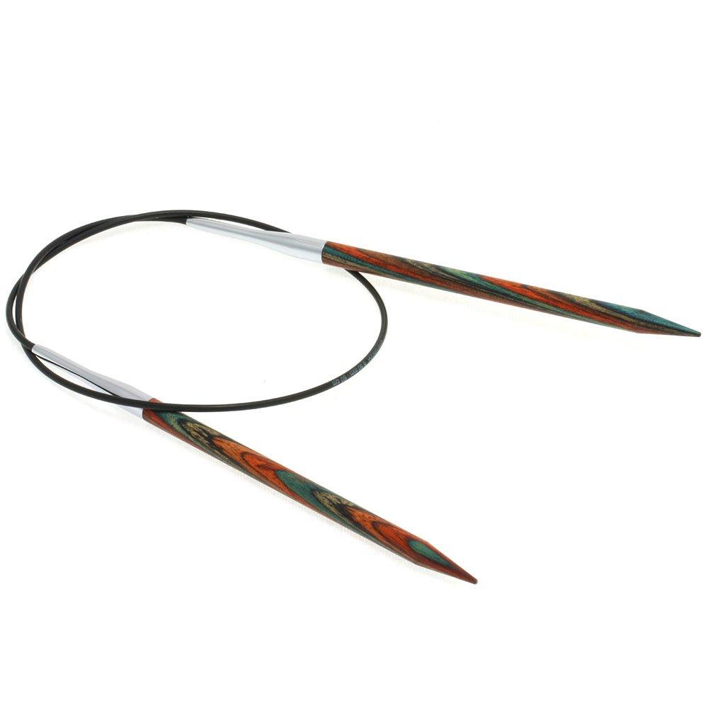 Lana Grossa Aiguille circulaire design en bois Color N° 5,5/60cm