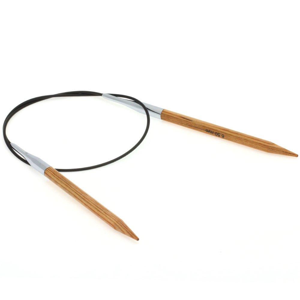 Lana Grossa Aiguille circulaire design en bois Natur N° 6,5/60cm