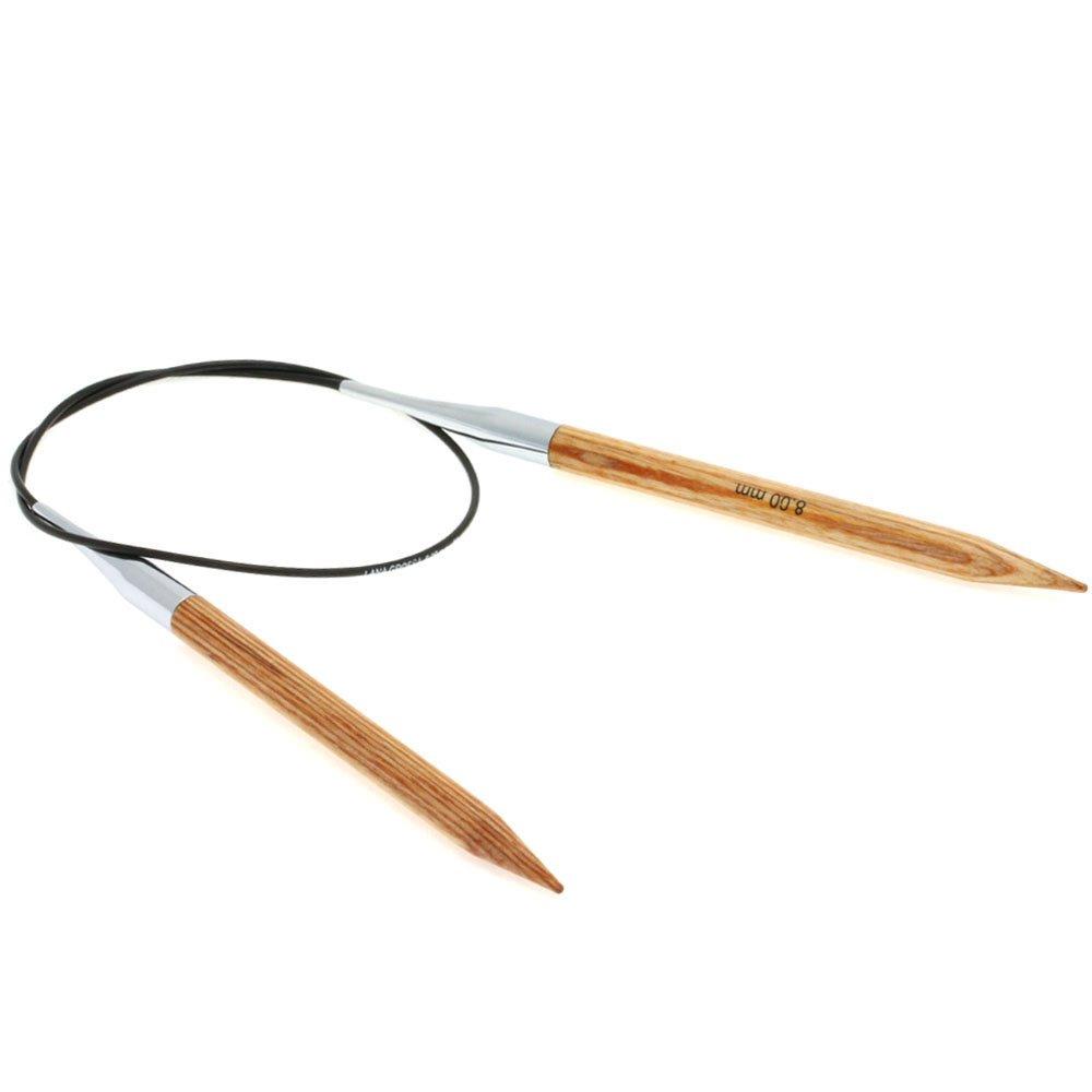 Lana Grossa Aiguille circulaire design en bois Natur N° 8/60cm