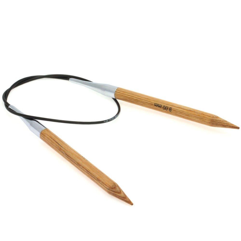 Lana Grossa Aiguille circulaire design en bois Natur N° 9/60cm
