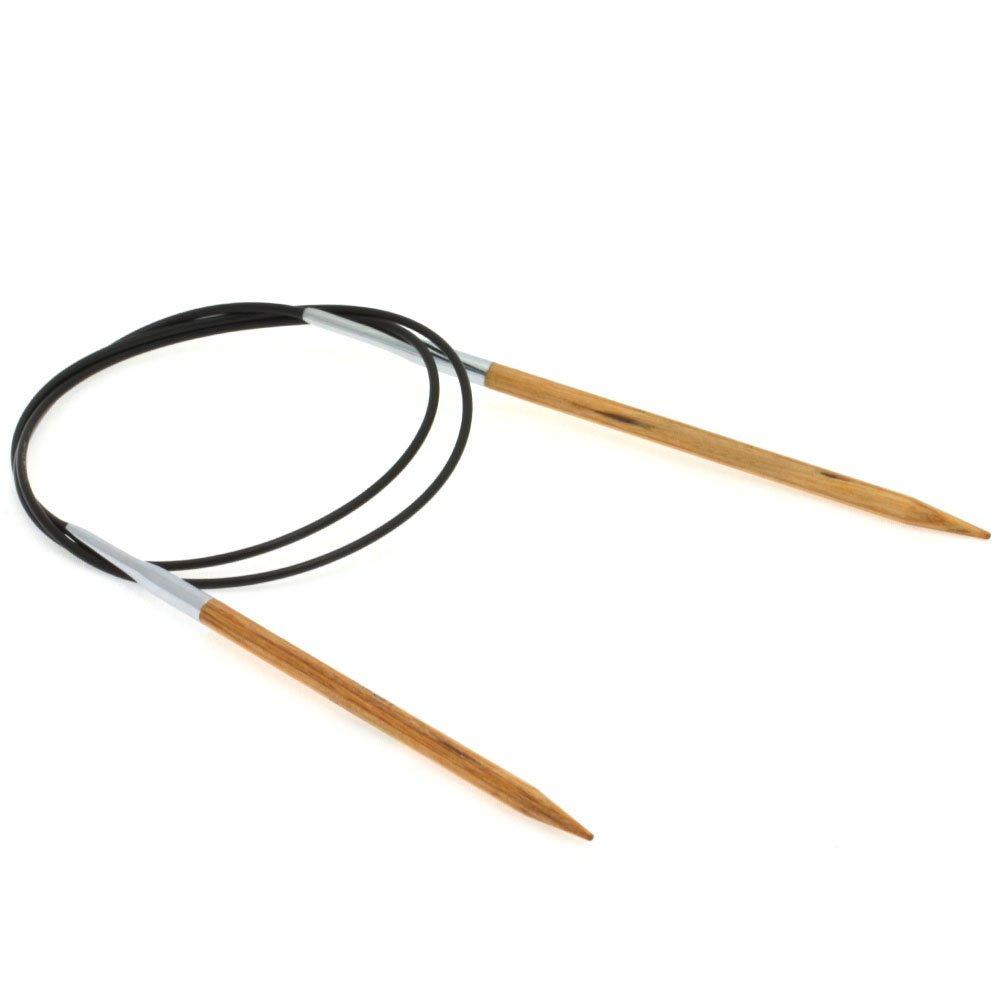 Lana Grossa Aiguille circulaire design en bois Natur N° 4,5/80cm