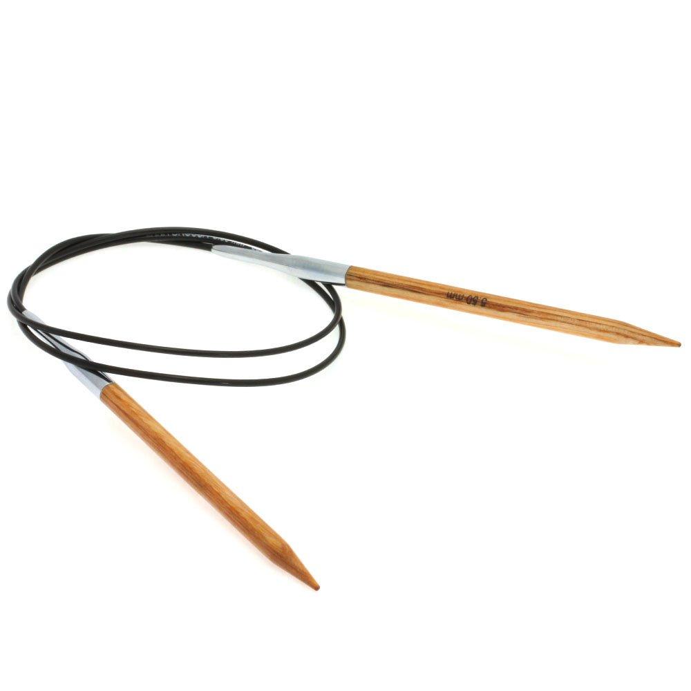 Lana Grossa Aiguille circulaire design en bois Natur N° 5,5/80cm
