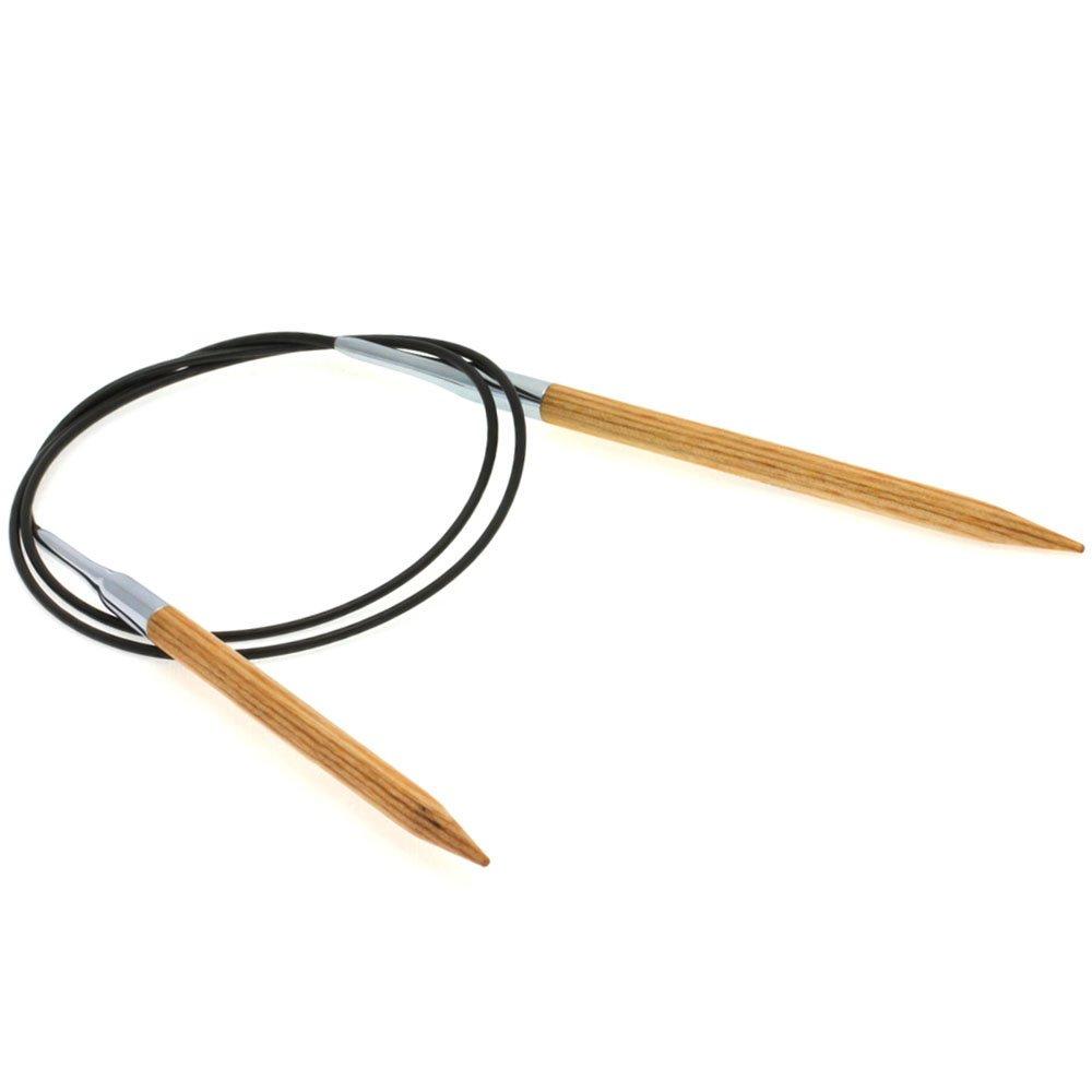 Lana Grossa Aiguille circulaire design en bois Natur N° 6/80cm