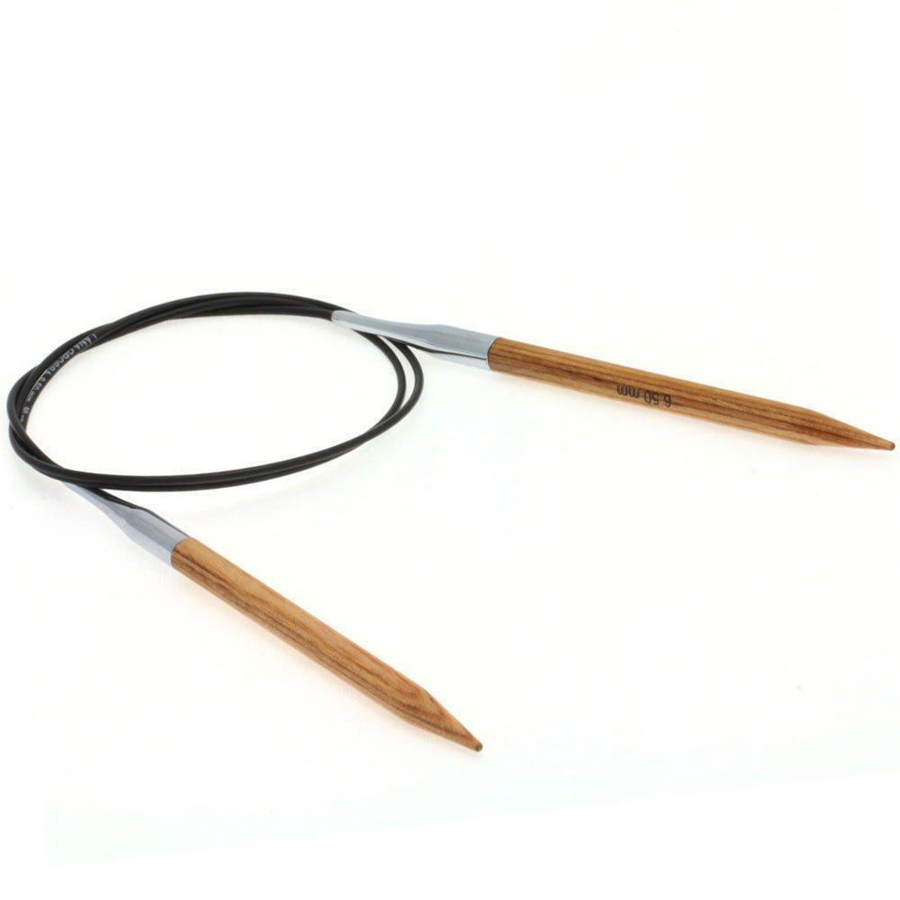 Lana Grossa Aiguille circulaire design en bois Natur N° 6,5/80cm