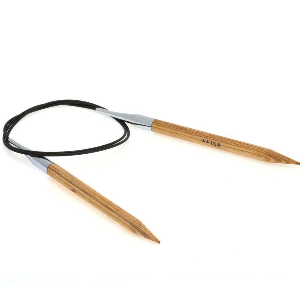 Lana Grossa Aiguille circulaire design en bois Natur N° 8/80cm